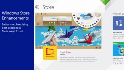 Windows 8.1 app store