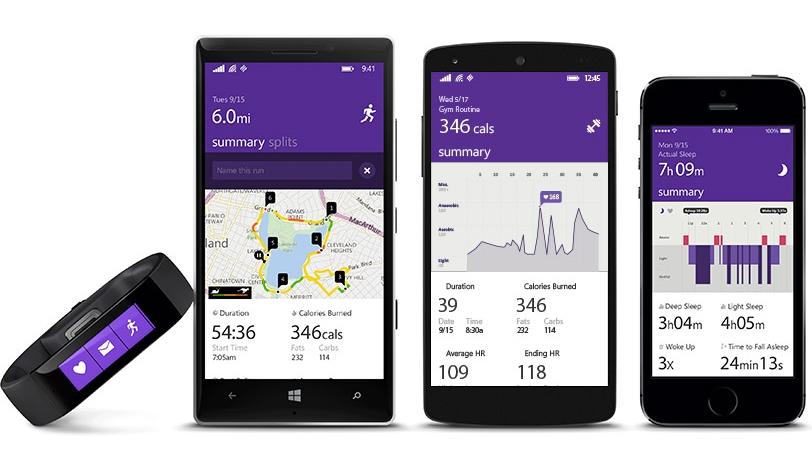 Microsoft Band lansat oficial; un nou fitness tracker cu preț de 199$ și suport pentru platforme multiple