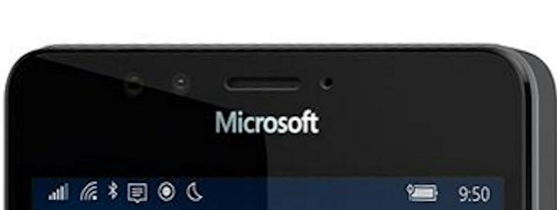 Scanner de iris Microsoft Lumia 950