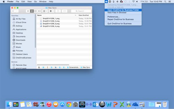 OneDrive for Business soseşte pe OS X, aduce integrare cu aplicaţia iOS