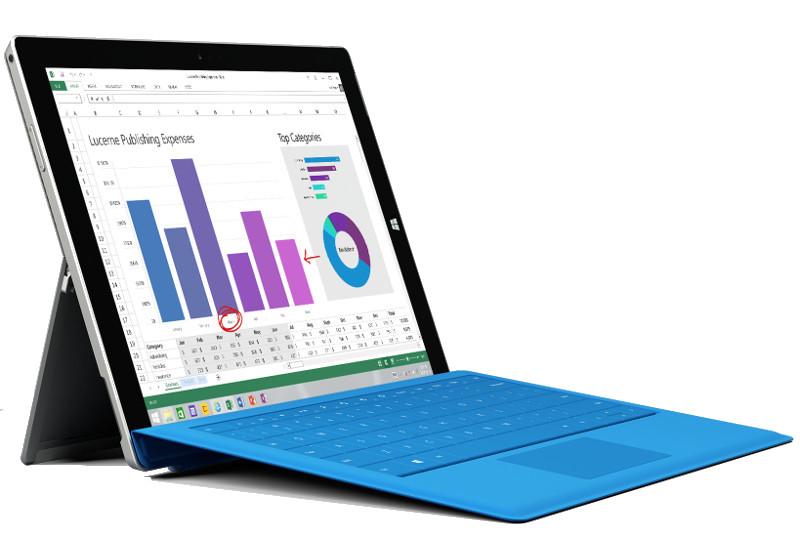 Microsoft lansează tableta Surface 3, cu ecran HD de 10 inch, procesor Intel Atom x7 şi cu preţ de 499 dolari