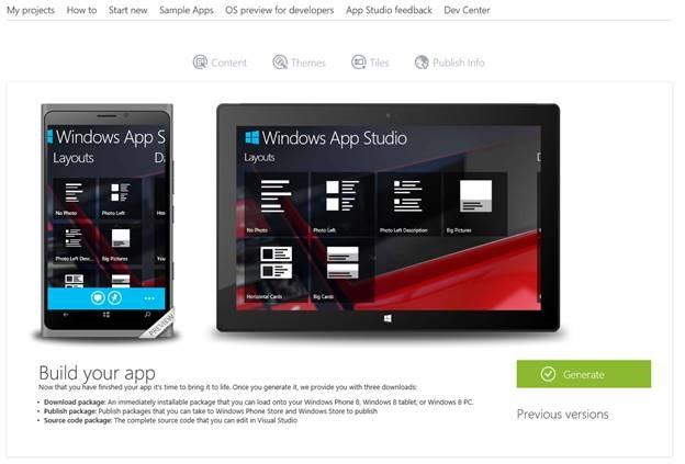 Microsoft publică oficial programul Windows App Studio Beta; acesta este disponibil acum pentru download