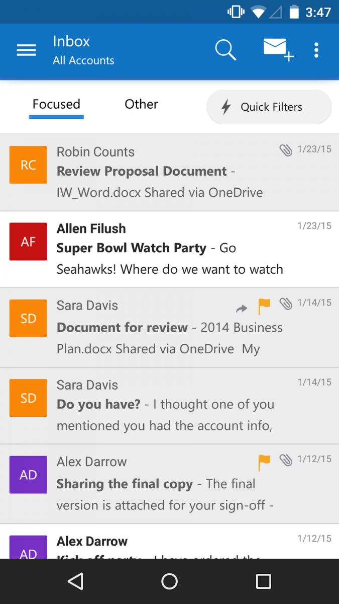Microsoft lansează Outlook pentru iOS și Android