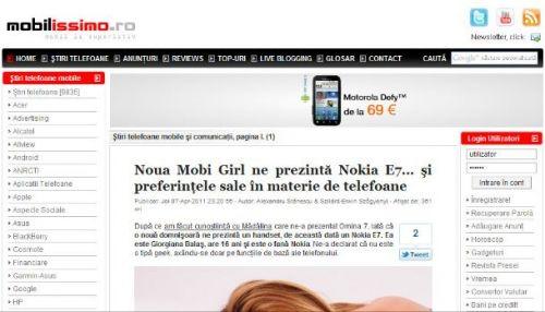Motorola Defy la 69 de euro