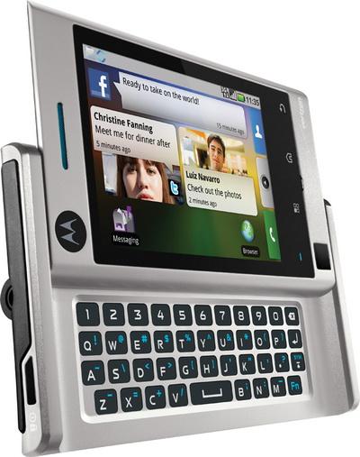 Motorola Devour, anuntat oficial, inca un smartphone cu MOTOBLUR