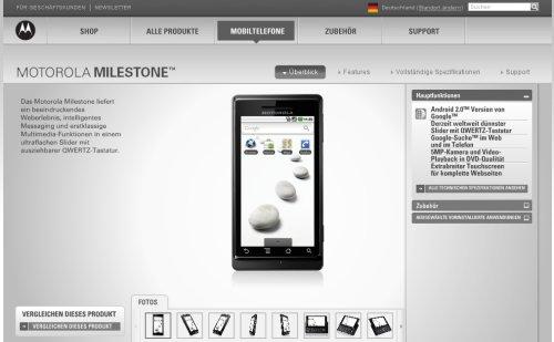 Motorola Milestone e oficial primul telefon Android 2.0 din Europa!