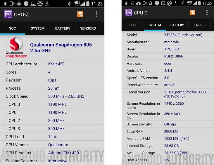 """Încă un telefon misterios Motorola Își face apariția: """"Quark XT1254""""; Mai puternic decât Moto X+1?"""