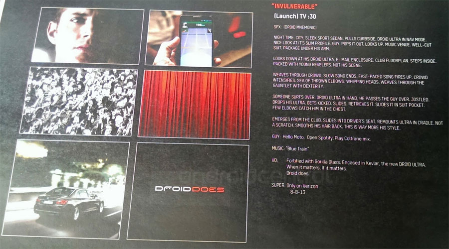 Imagine de presă cu viitoarea serie Motorola Droid: Mini, Ultra, MAXX