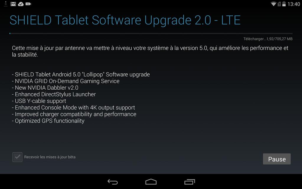 Tableta Nvidia SHIELD primește În aceste momente actualizarea la Android 5.0 Lollipop