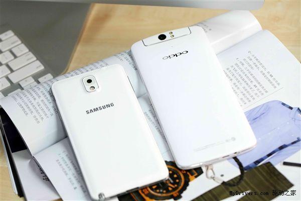 Oppo N1 comparat versus Samsung Galaxy Note 3