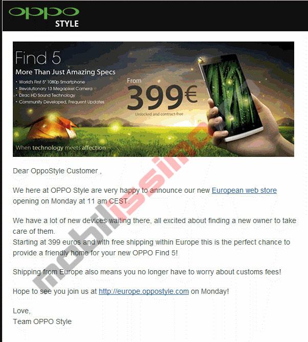 Oppo Își deschide magazin online În Europa, livrează telefoane fără taxe poștale
