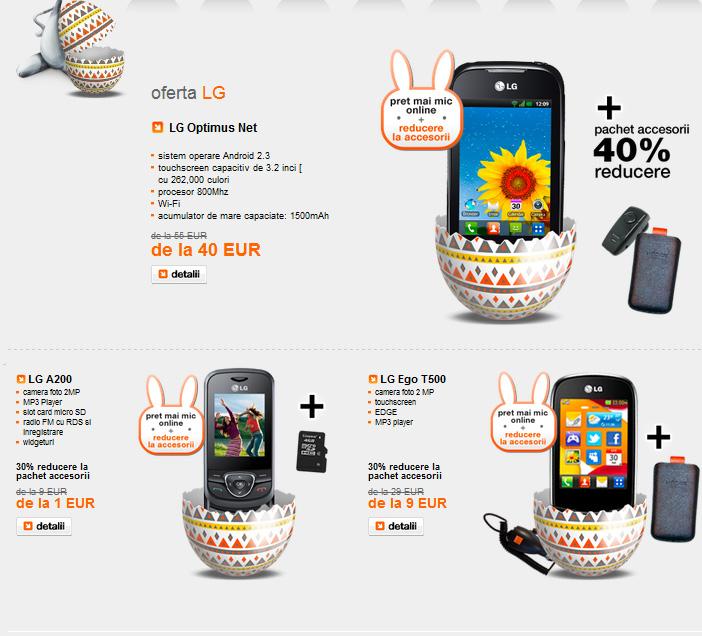 Oferta Orange de Paște - telefoane pentru toate gusturile