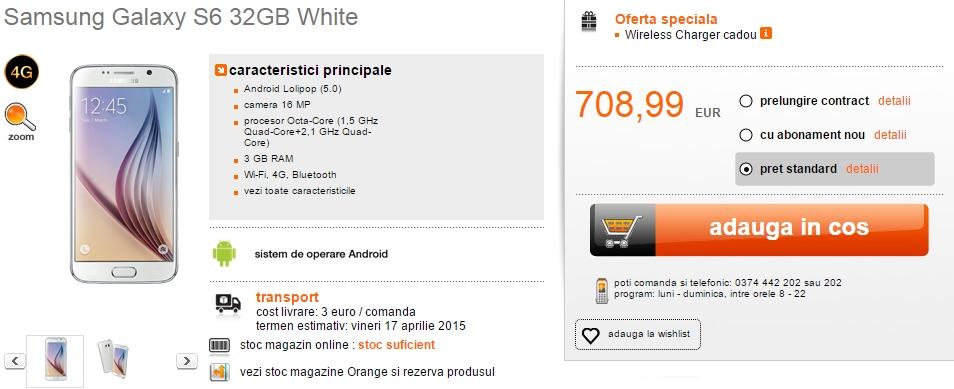 Orange dă startul pre-comenzilor pentru Galaxy S6 și S6 Edge; prețurile pornesc de la 3.142 lei