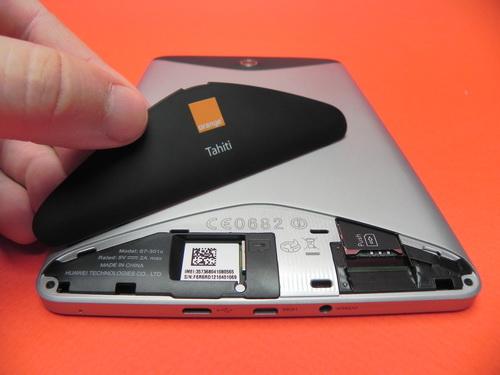 Orange Tahiti spate si capac SIM - MicroSD