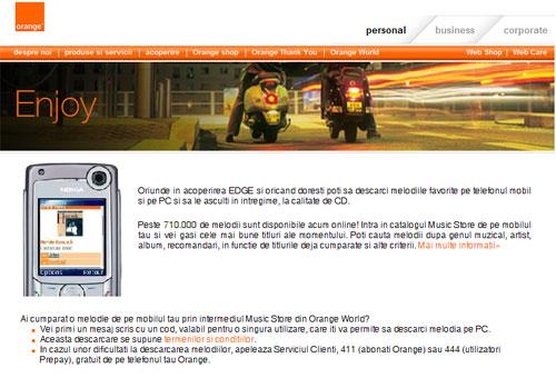 Orange Romania lanseaza serviciul Music Store, pentru PC-uri si terminale mobile