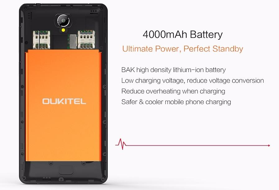 Oukitel K4000, telefon cu baterie de 4000 mAh și procesor quad-core pe 64-bit costă acum doar 450 lei