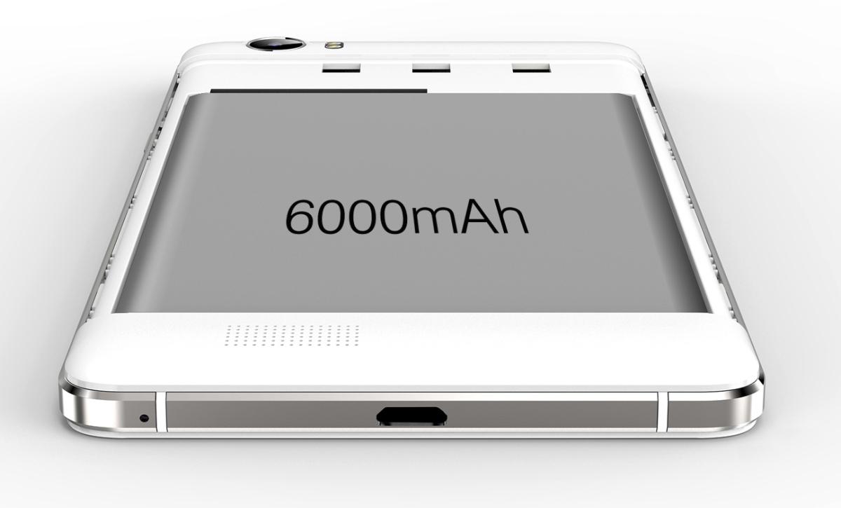 Oukitel K6000 este un smartphone cu baterie de 6000 mAh capabil să încarce și alte device-uri; costă 440 lei la un retailer chinez
