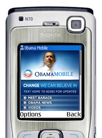 Barack Obama are propriul site mobil
