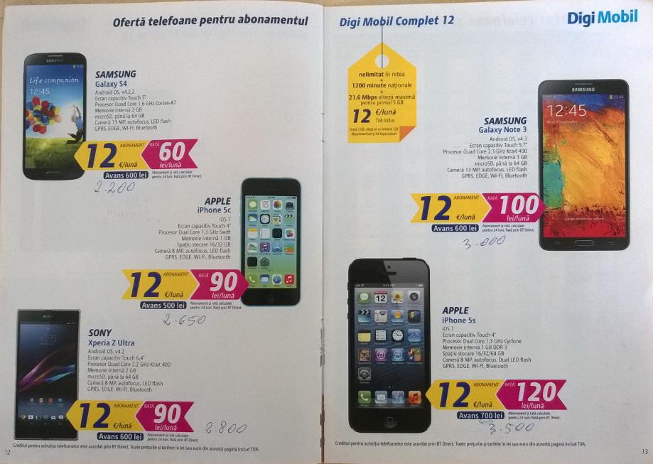 Oferta completă de telefoane RCS&RDS din Timișoara și Brașov