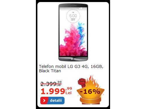 LG G3 la reducere