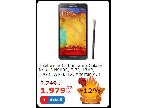 Samsung Galaxy Note 3 la reducerre