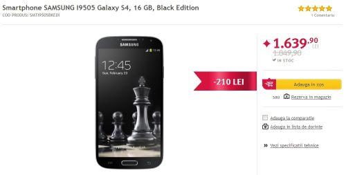 Altex oferă o serie de reduceri pentru smartphone-urile din stoc; Samsung Galaxy S4 la doar 1.639 lei