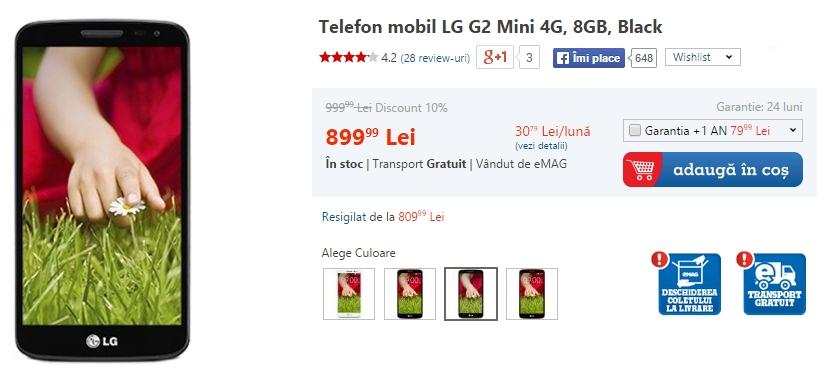 LG G2 Mini la reducere