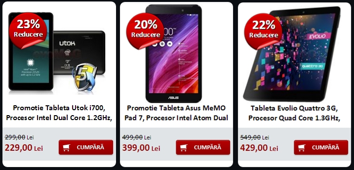Top 3 tablete În oferta evoMAG.ro de Black Friday