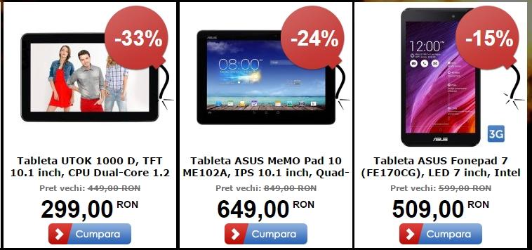 Top 3 tablete În oferta MarketOnline.ro de Black Friday