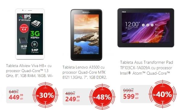 Top 3 tablete În oferta eMAG.ro de Black Friday