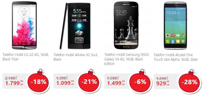eMAG ne prezintă cele mai potrivite cadouri pentru Crăciun; LG G3 la 1.799 lei
