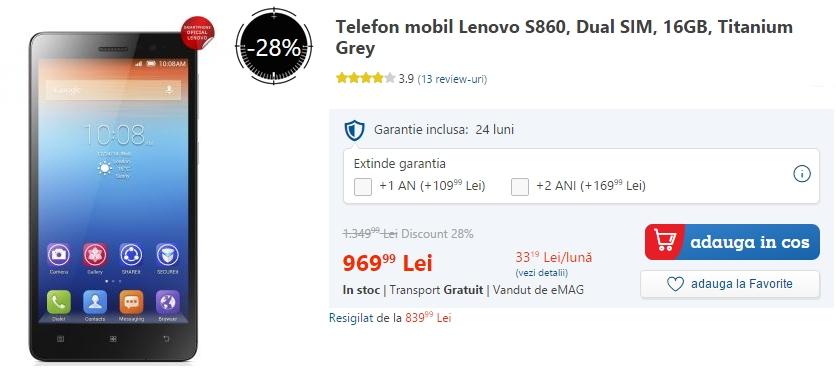 Lenovo S860 la reducere