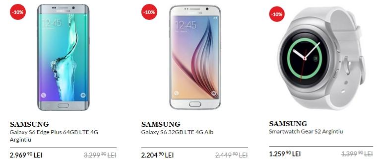 QuickMobile vine cu reduceri de 10% pentru smartphone-urile Samsung; ofertă valabilă în perioada 18 - 24 ianuarie