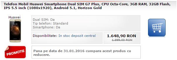 Huawei G7 Plus la reducere