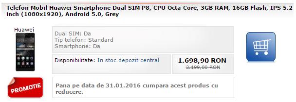 Huawei P8 la reducere