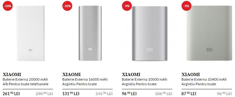 Bateriile externe Xiaomi primesc reduceri de 10% pe QuickMobile.ro; iată modelele comercializate