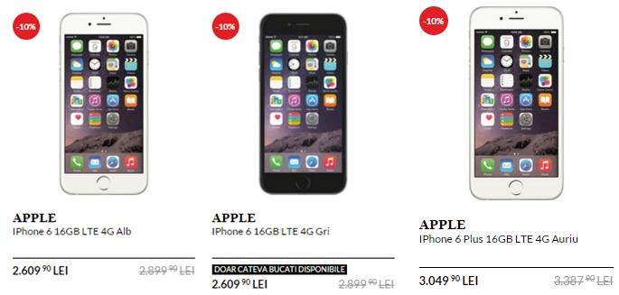 iPhone 6 primește o reducere de 10% pe QuickMobile.ro; poate fi cumpărat pentru suma de 2.609 lei