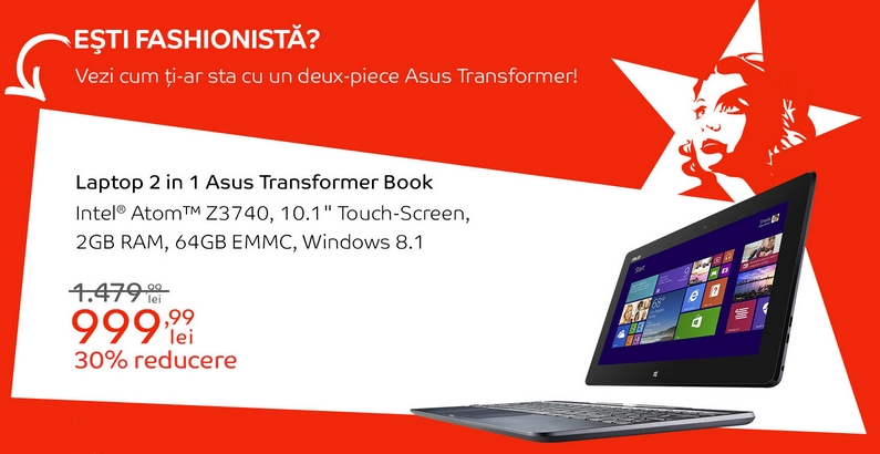 Asus Transformer Book va costa 999 lei