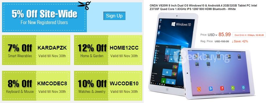 Black Friday la GeekBuying.com vine cu reduceri la smartphone-uri, tablete, și ceasuri inteligente; iată oferta magazinului