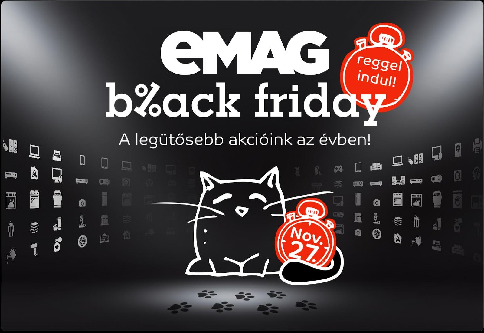 eMAG Ungaria dă startul campaniei de Black Friday; iată și o comparație cu prețurile din România