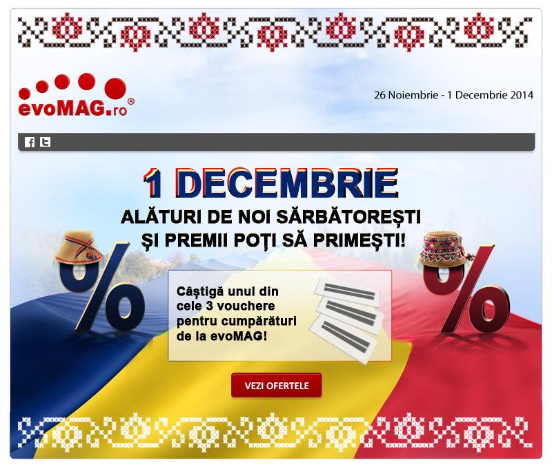 evoMAG dă startul unei noi campanii cu ocazia zilei naționale de 1 decembrie