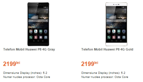 Huawei P8 pret in Romania