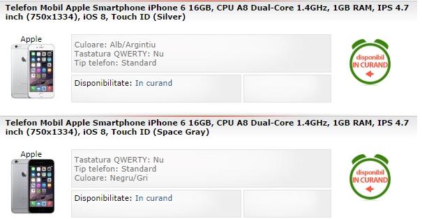 iPhone 6 si iPhone 6 Plus in oferta MarketOnline.ro