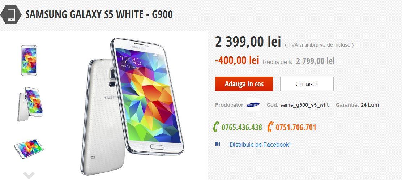 Samsung Galaxy S5 la reducere