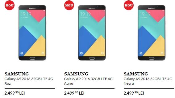 Samsung Galaxy A9 (2016) de astăzi la QuickMobile; iată prețul pentru acest phablet de 6 inch