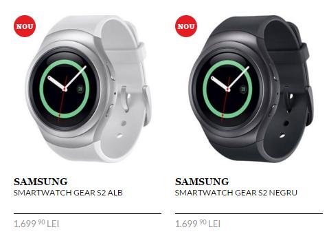 Smartwatch-ul Samsung Gear S2 ajunge în oferta QuickMobile; pentru moment doar în versiunea sport