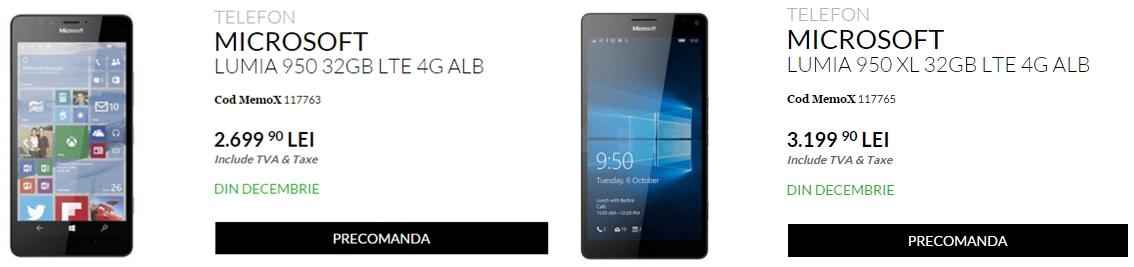Microsoft Lumia 950 și Lumia 950 XL de astăzi la precomandă prin intermediul QuickMobile