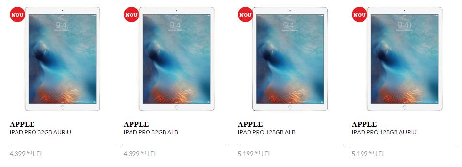 iPad Pro este disponibilă la pre-comandă prin intermediul QuickMobile.ro; prețurile încep de la 4.399 lei