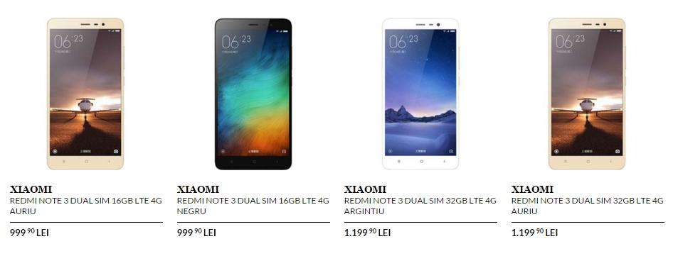 Xiaomi Redmi Note 3 poposește în oferta QuickMobile; modelul de 16 GB costă 999 lei