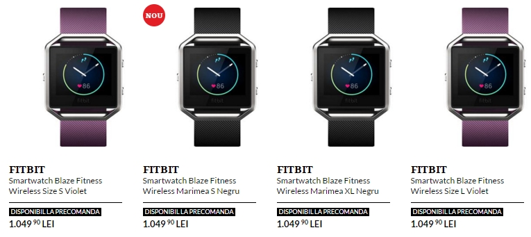 Noul fitness tracker Fitbit Blaze este deja disponibil la pre-comandă prin intermediul QuickMobile.ro